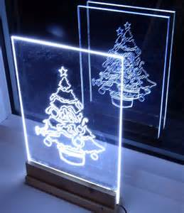 how to make led lights how to make acrylic led tree edge light sign