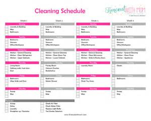 cleaning calendar template monthly cleaning schedule blank template calendar