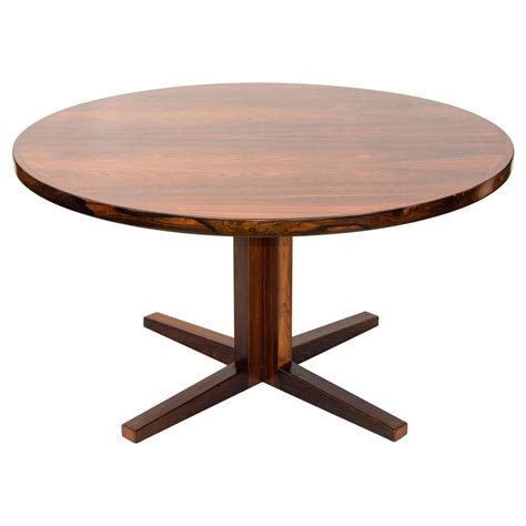round dining room table with leaf danish rosewood round pedestal dining table one leaf at