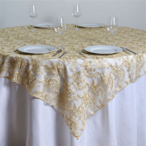 Wedding Tablecloths by 72x72 Quot Floral Lace Table Overlay Wedding Linens
