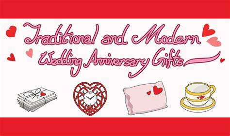 Wedding Anniversary Gifts By Year Modern And Traditional by Traditional And Modern Wedding Anniversary Gifts