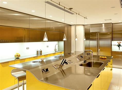 innovative kitchen designs yellow decor kitchen captainwalt com