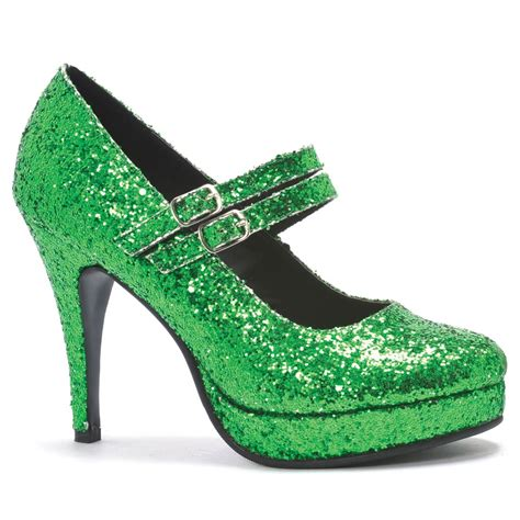 Heels Shoes by Green Glitter High Heel Shoes Costume Craze