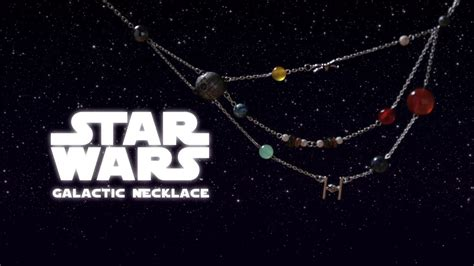 a star wars galactic necklace featuring popular planets and spaceships buzzfeed