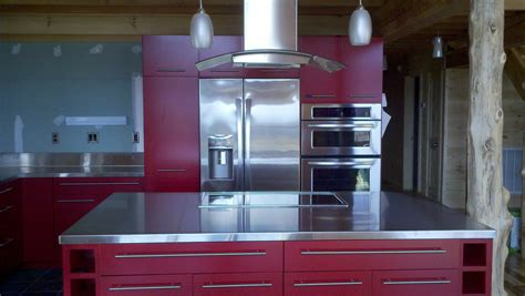 Powell Kitchen Island by Stainless Steel Countertops