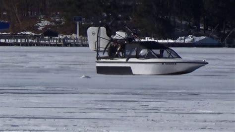 fan boat on ice fan boat out on the ice youtube