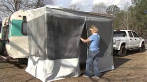 Pop Up Camper Awning Trim Line Screen Room For Pop Ups By Dometic Youtube