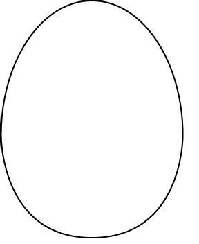 egg shaped card template from a search for easter card templates re