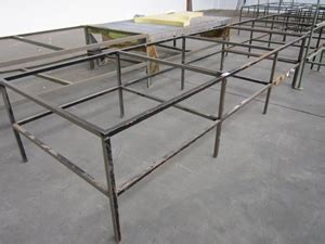 metal bench frame only 2 x steel bench frames only 3600 x 1300mm auction 0029
