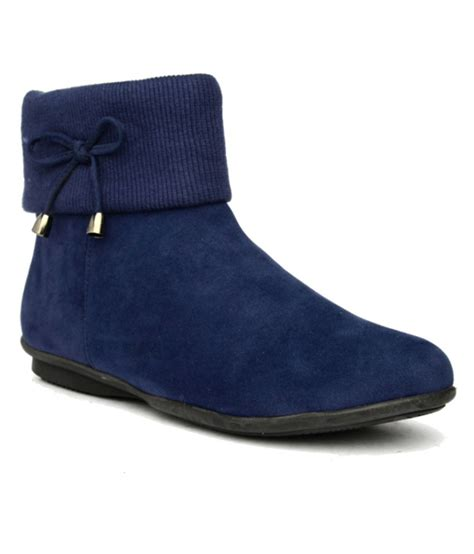 bruno manetti navy flat boots available at snapdeal for rs