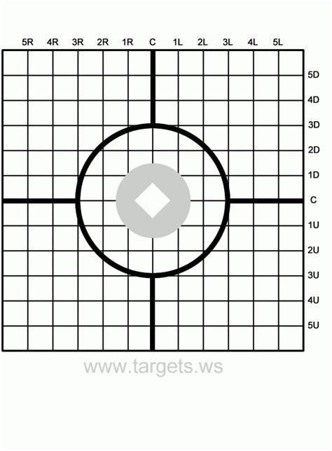 Free Printable Targets Health Symptoms And Cure Com Shooting Target Template