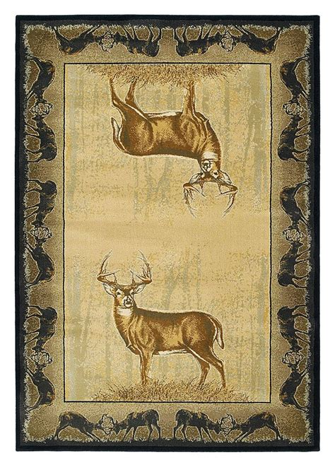 deer area rug buckwear wildlife themed area rugs believe deer bass pro shops lodge living room