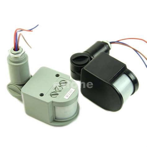Photo Sensor 220volt 10a Or Home Lighting c18 12m 12v security pir infrared motion sensor detector wall led light outdoor rf 140 degree in