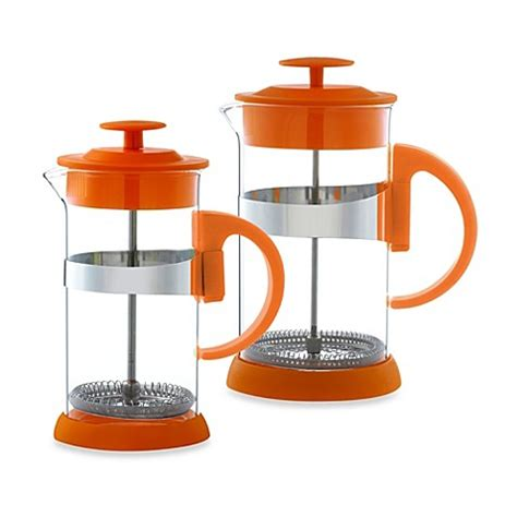 french press bed bath and beyond grosche zurich french press in orange bed bath beyond