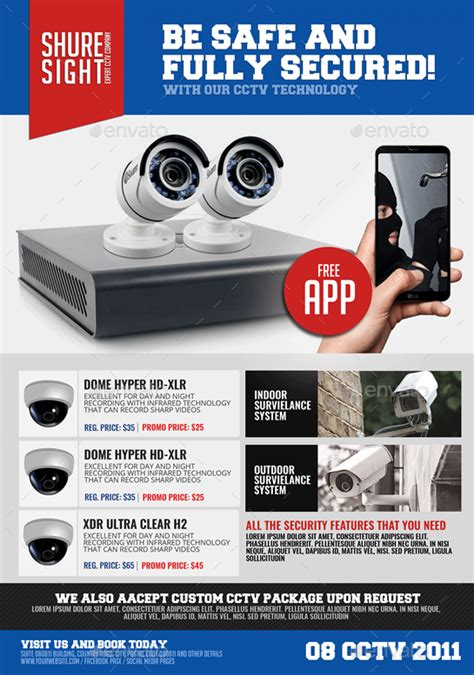 Cctv Promotional Flyer By Artchery Graphicriver Cctv Flyer Template