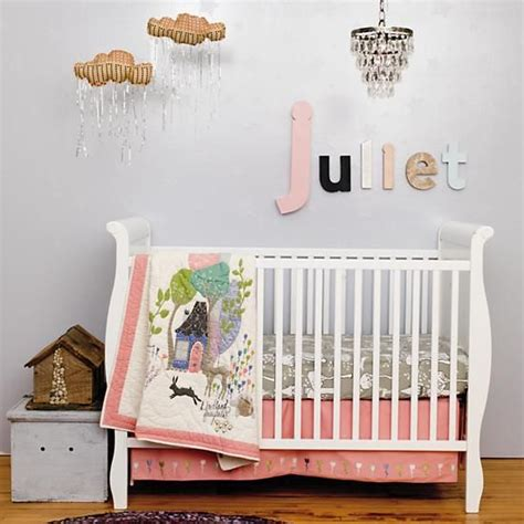 land of nod crib bedding baby bedding fairy tale themed crib bedding in crib