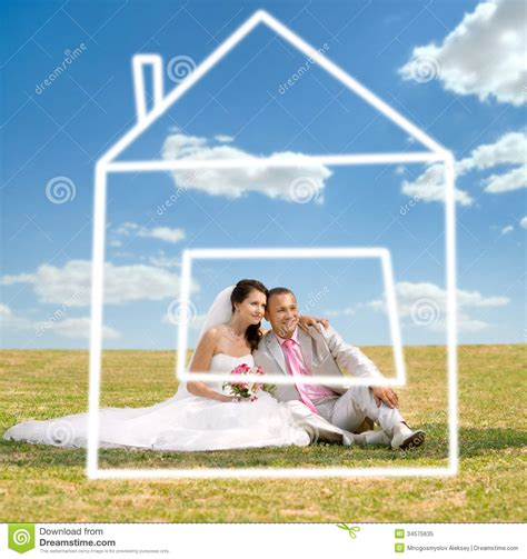 dream home com newly married couple stock image image of home girl
