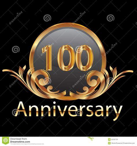 100th Years Anniversary Stock Image   Image: 22787731