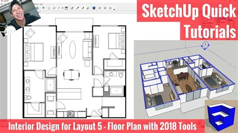 creating a floor plan in layout with sketchup 2018 s new tools apartment for layout part 5