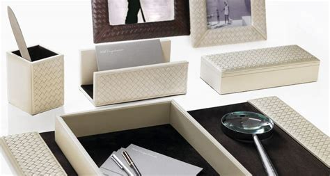 Riviere Desk Accessories Leatherware Luxury Italian Luxury Desk Accessories