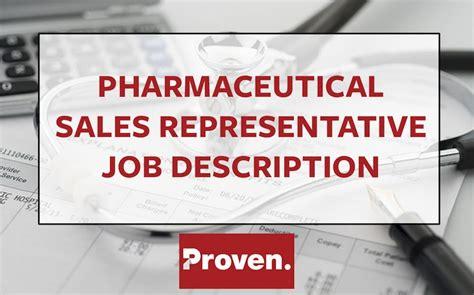the pharmaceutical sales representative description