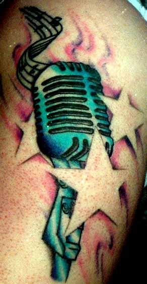 old school microphone tattoo school microphone by on