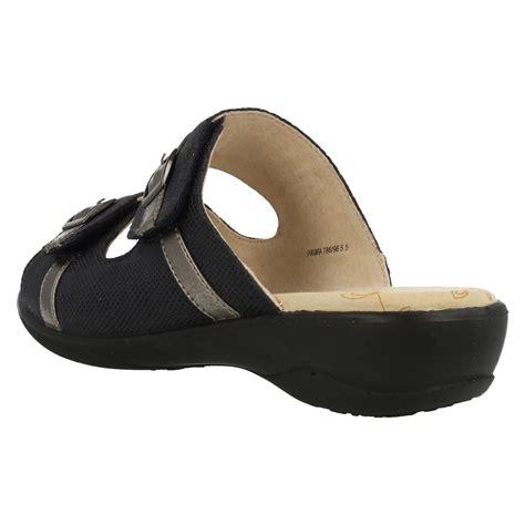 wide sandals padders wide fitting velcro mule sandals prima ebay
