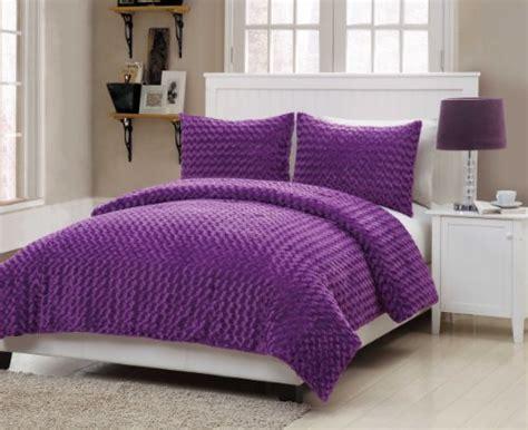 rose fur comforter vcny rose fur 2 piece comforter set twin purple import