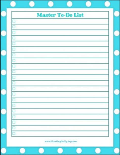 free printable to do list to get organized series on aging caring for parents pt 2 get organized