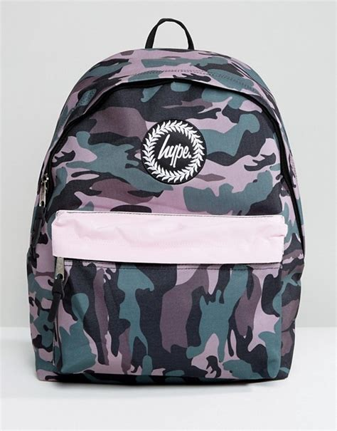 Camo Print Backpack hype hype camo print backpack with contrast pocket
