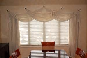 Window Treatments Swags - swags and jabots on holdbacks