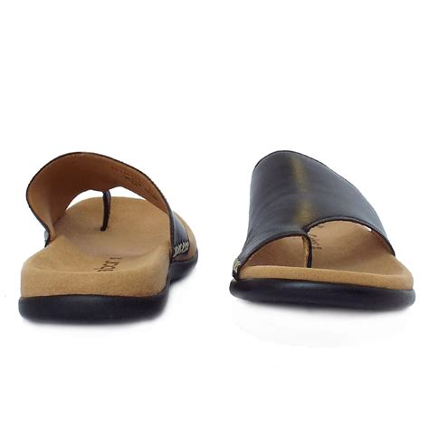 black mule sandals gabor sandals lanzarote womens summer sandals in black