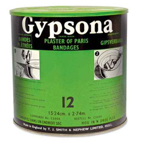 Gypsona Plaster Bandages 8 Wide discontinued gypsona plaster bandages