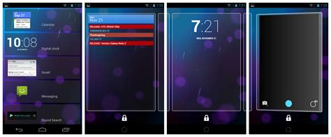 lock screen widgets for android android world nov 24 2012