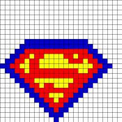 hama bead templates superman fusebead perler bead pattern bead sprites