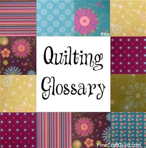 quilting terms for beginners a m