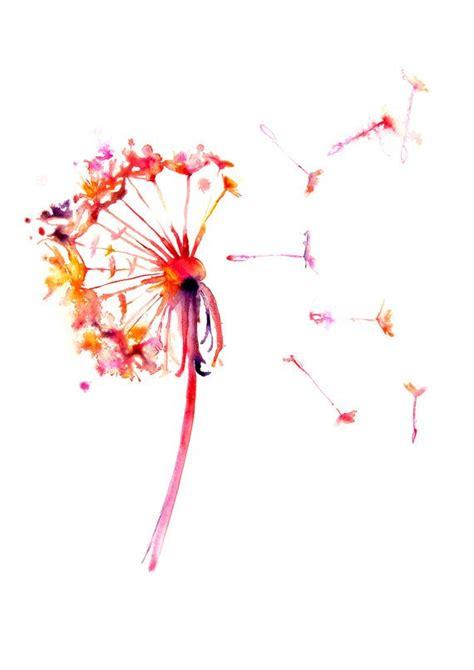watercolor tattoos dandelion best 20 watercolor dandelion ideas on