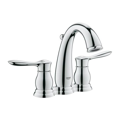 grohe parkfield bathroom faucet grohe parkfield 4 in centerset 2 handle 1 2 gpm bathroom faucet in starlight chrome