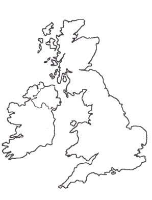 template of uk map free coloring pages of united kingdom outline