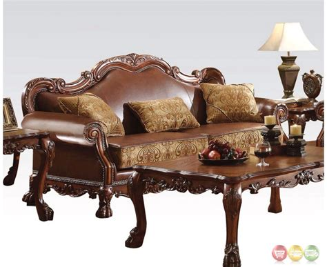 cherry brown leather sofa dresden formal brown leather gold fabric sofa loveseat