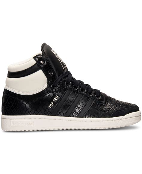 adidas originals s top ten hi casual sneakers from finish line in black lyst