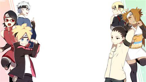 wallpaper boruto sarada dan mitsuki boruto anime boruto uzumaki sarada uchiha mitsuki