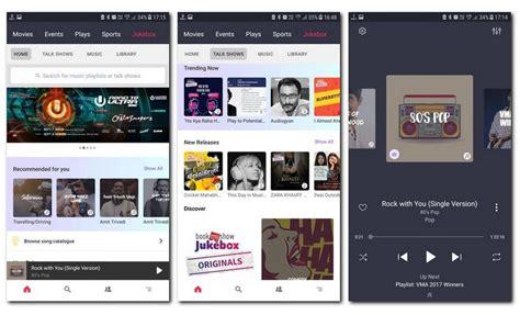 bookmyshow jukebox bookmyshow launches music streaming and digital radio