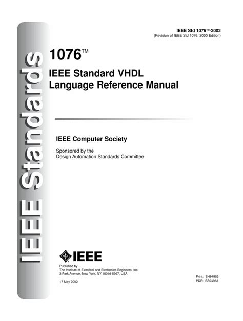 reference book ieee 1076 2008 ieee standard vhdl language reference manual