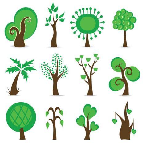 trees symbolism ภาพเวกเตอร ต นไม การ ต น vector เวกเตอร flowers leaves
