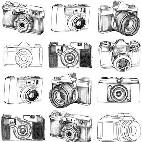 pattern background camera graham brown fresco camera pattern pencil drawn retro