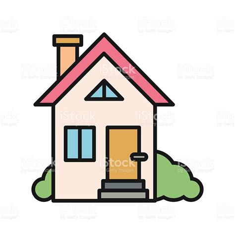 haus clipart house icon on white stock vector 505174034 istock