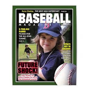 photoshop magazine cover template sports designs baseball magazine cover easy to use by