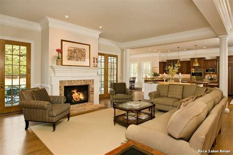 Salon Vs Living Room Deco Salon Beige With Classique Salle De Bain D 233 Coration