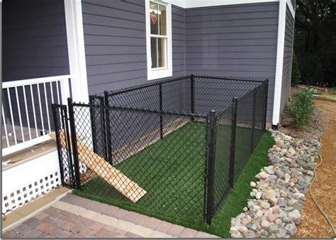 small backyard dogs a small very small backyard dog run right off the porch or deck media magazine